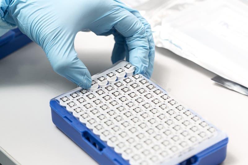 Ένα χημικό μπουκάλι δειγμάτων centrifuge Σύνολα δοκιμής σωλήνων φιαλιδίων για την ανάλυση στοκ φωτογραφίες με δικαίωμα ελεύθερης χρήσης