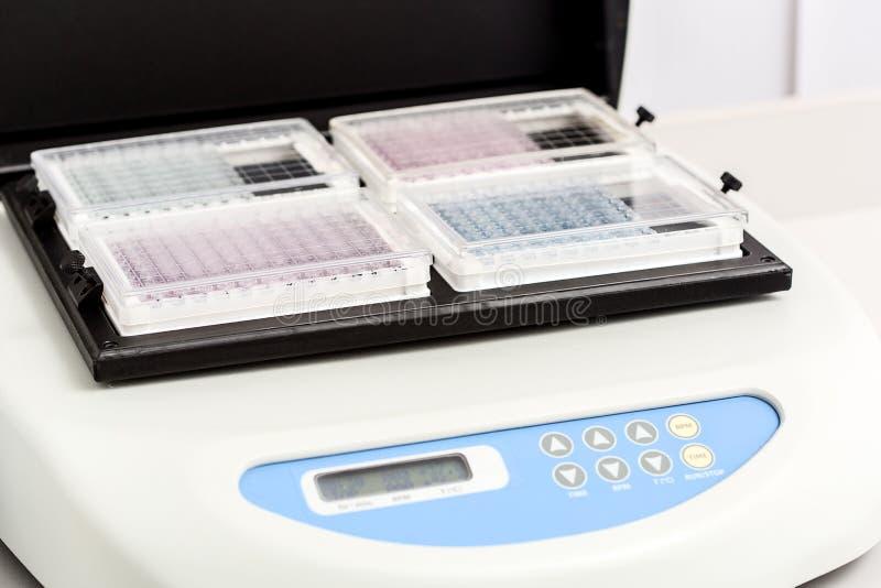 Ένα χημικό μπουκάλι δειγμάτων centrifuge Σύνολα δοκιμής σωλήνων φιαλιδίων για την ανάλυση στοκ φωτογραφία