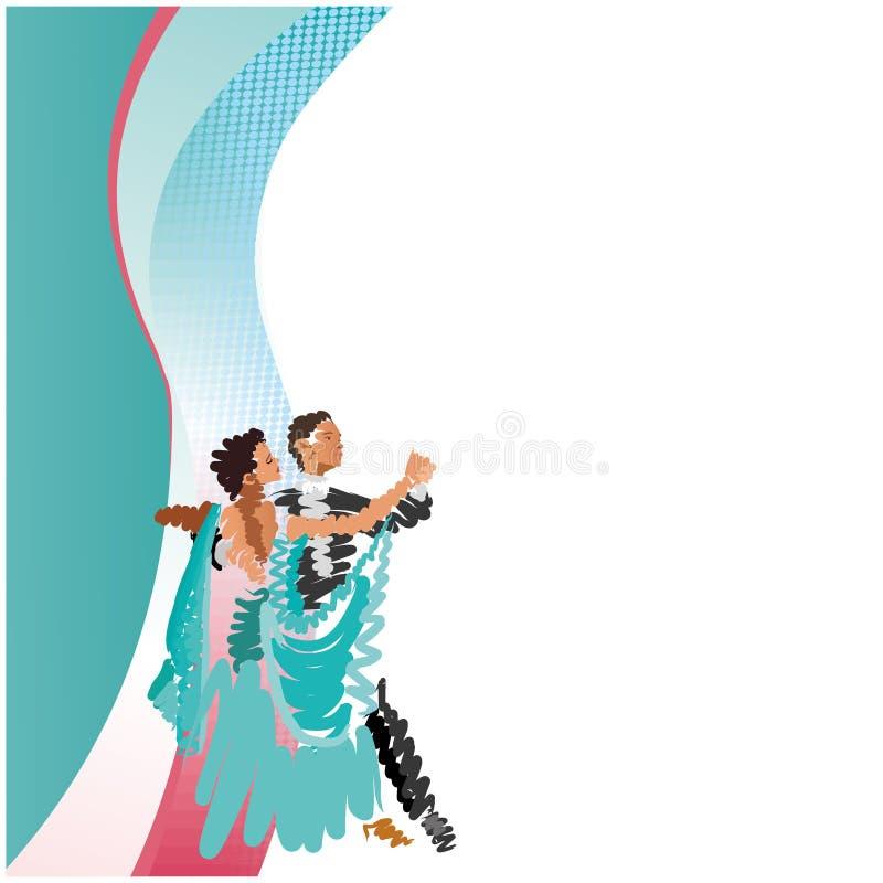Ένα χορεύοντας ζεύγος ελεύθερη απεικόνιση δικαιώματος