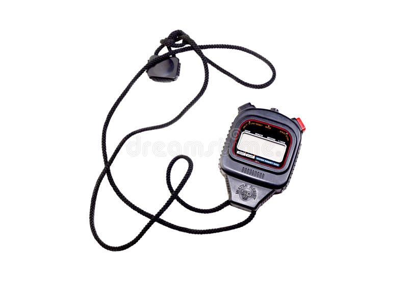 Ένα χρονόμετρο με διακόπτη στο άσπρο υπόβαθρο στοκ φωτογραφία