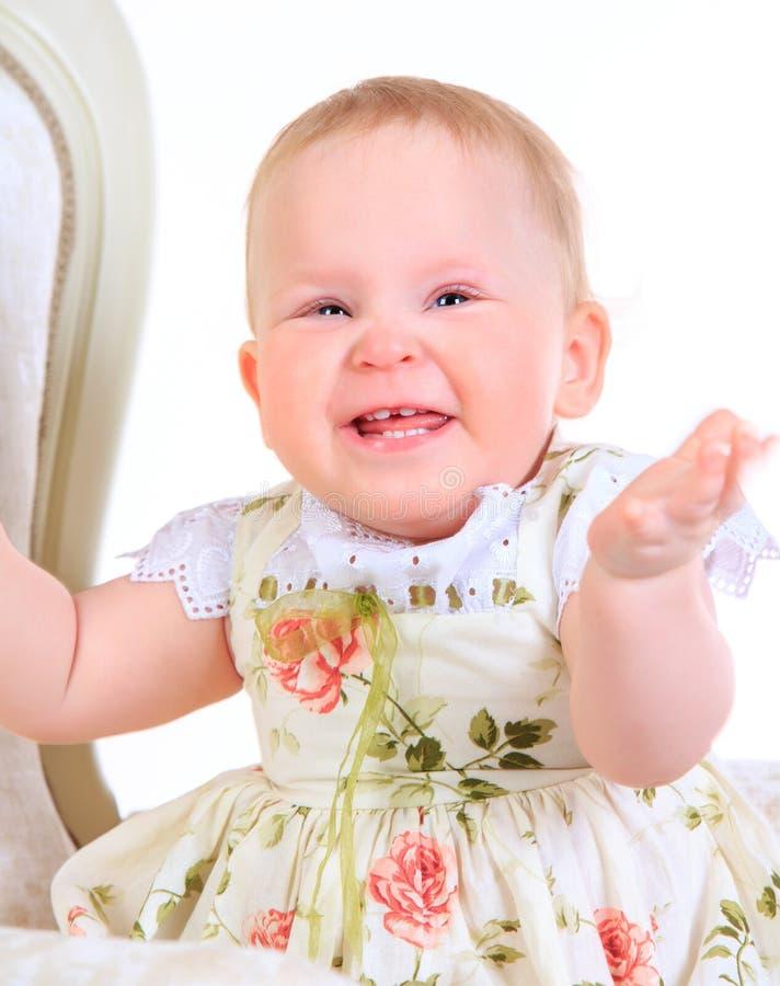 Ένα χρονών κοριτσάκι στοκ εικόνα με δικαίωμα ελεύθερης χρήσης