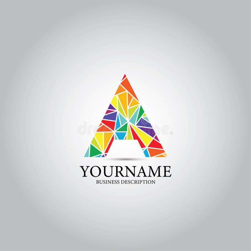 Ένα χρωματισμένο επιστολή λογότυπο Triangel απεικόνιση αποθεμάτων