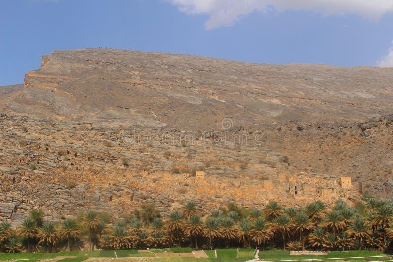 Ένα χωριό Abandonded στον τρόπο σε Jabel υποκρίνεται στοκ εικόνες