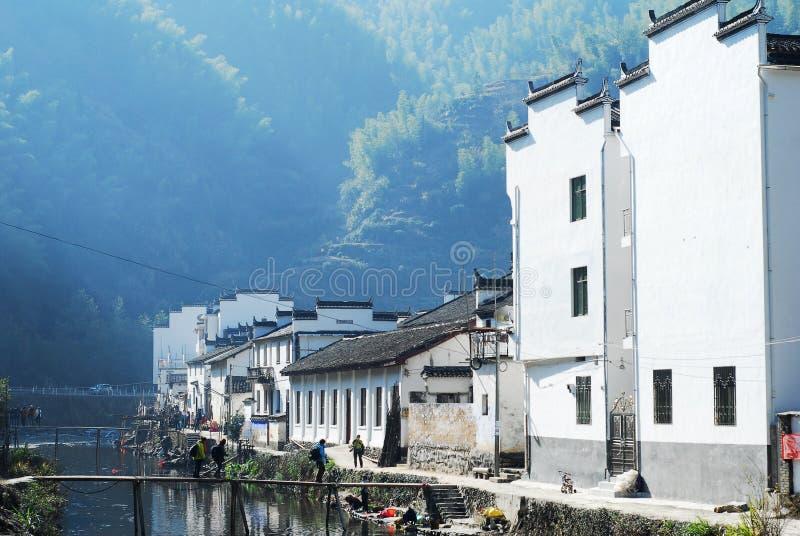 Ένα χωριό hui-ύφους στοκ εικόνες