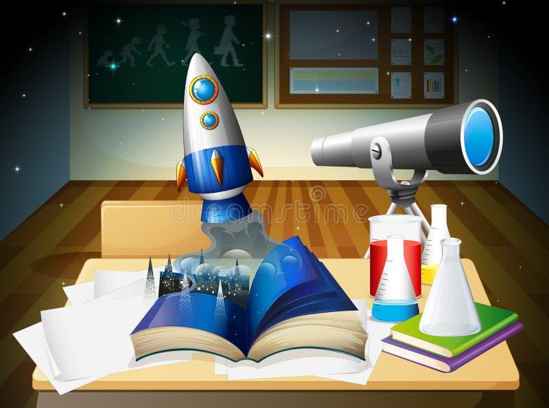 Ένα δωμάτιο εργαστηρίων επιστήμης διανυσματική απεικόνιση