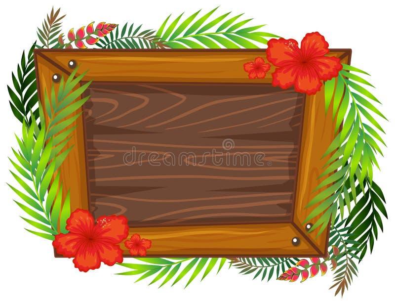 Ένα όμορφο ξύλινο πλαίσιο διανυσματική απεικόνιση