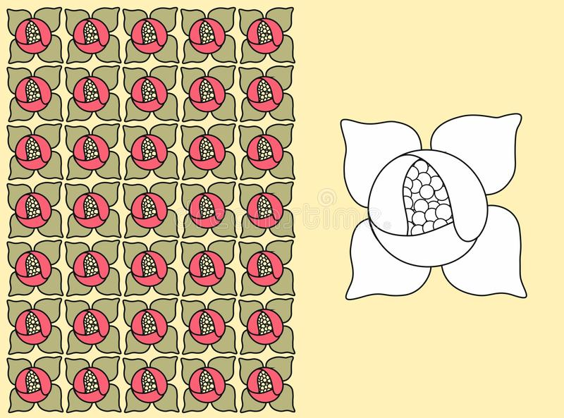 Ένα floral πρότυπο - κρίνος ύδατος στοκ φωτογραφίες
