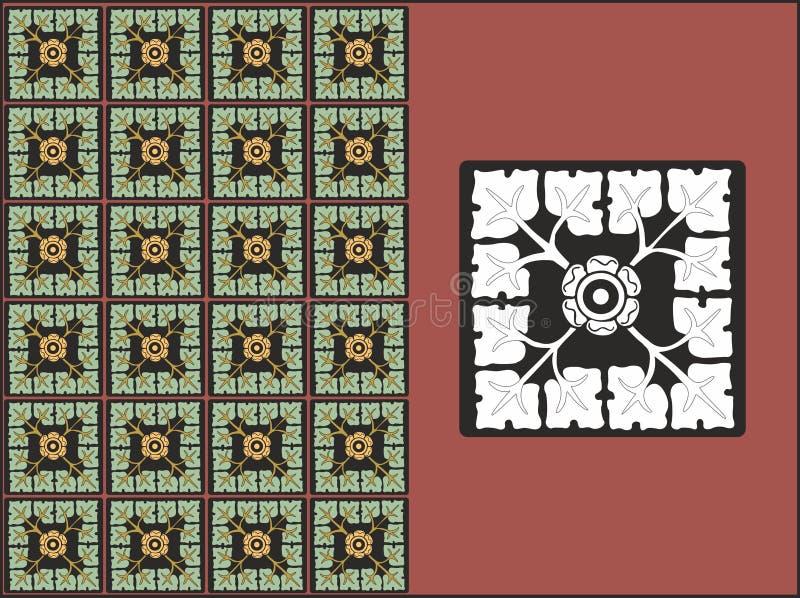 Ένα floral σχέδιο καμπυλών απεικόνιση αποθεμάτων