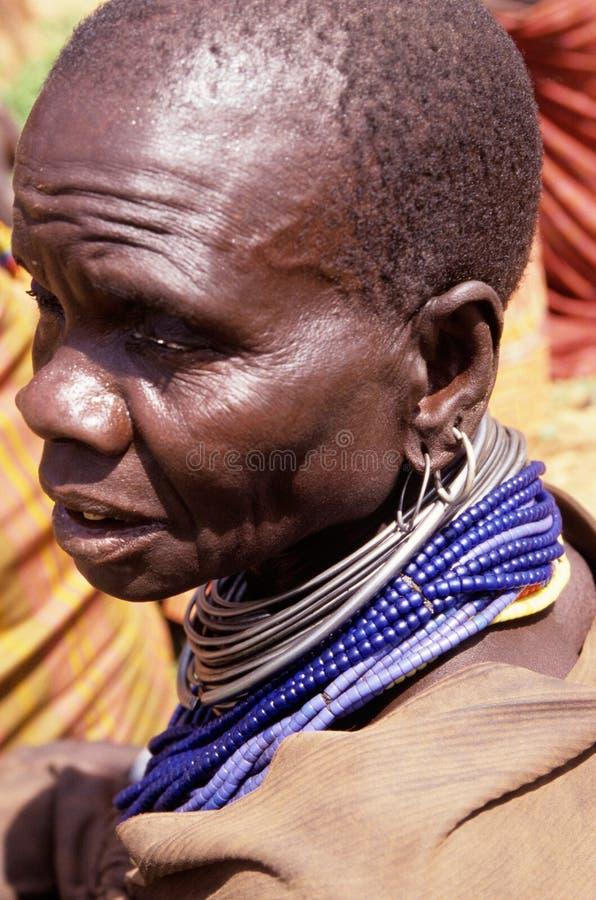 Ένα Karamojong άτομο, Ουγκάντα στοκ φωτογραφία με δικαίωμα ελεύθερης χρήσης