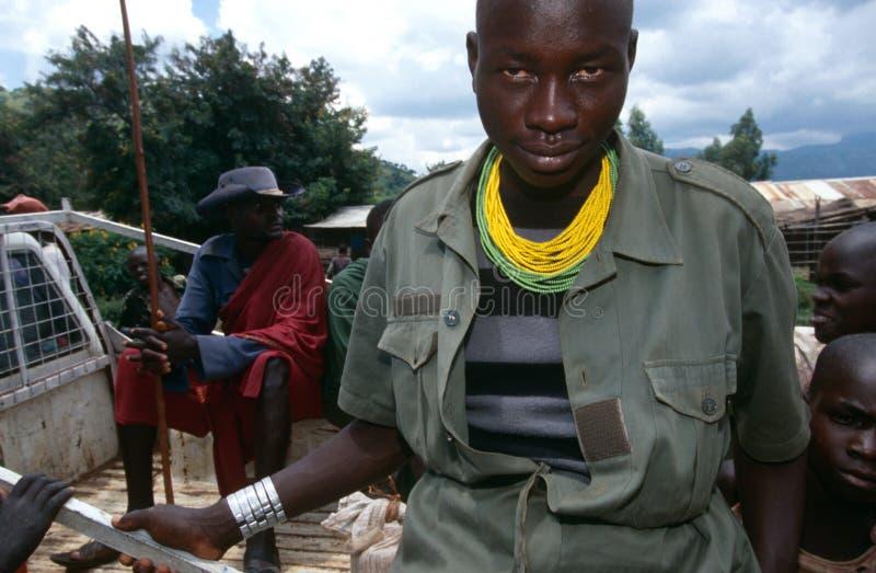 Ένα Karamojong άτομο, Ουγκάντα στοκ εικόνες με δικαίωμα ελεύθερης χρήσης
