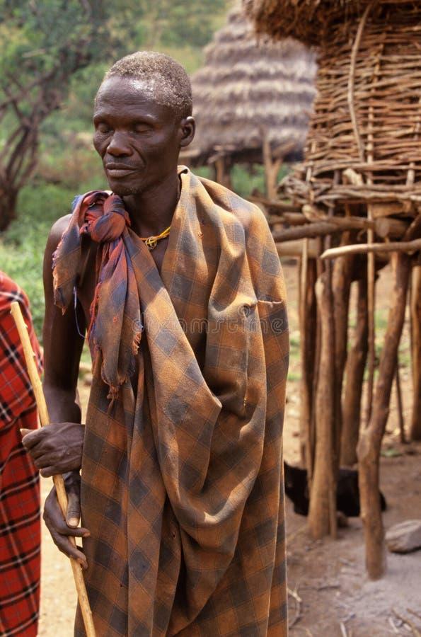 Ένα Karamojong άτομο, Ουγκάντα στοκ φωτογραφίες