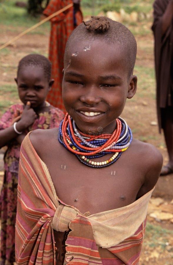 Ένα Karamojong παιδί, Ουγκάντα στοκ φωτογραφίες με δικαίωμα ελεύθερης χρήσης