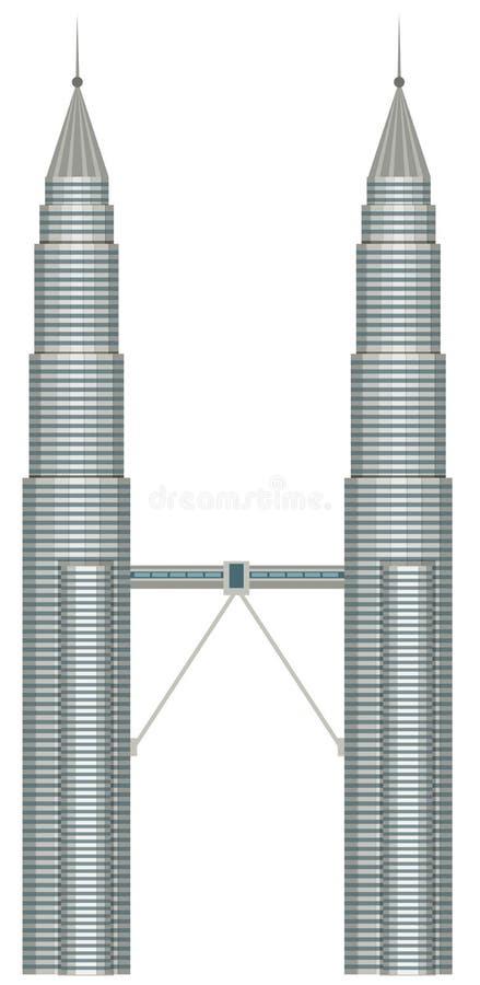 Ένα Malasia Petronas Κουάλα Λουμπούρ ελεύθερη απεικόνιση δικαιώματος