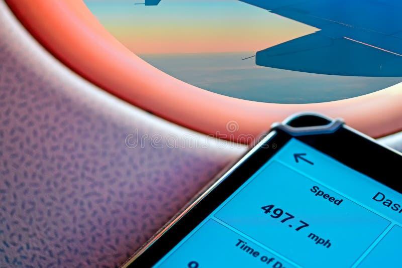 Ένδειξη της πτήσης ταχύτητας στοκ φωτογραφίες