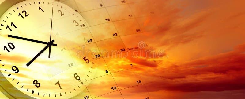 'Ένδειξη ώρασ' και ημερολόγιο στοκ εικόνα