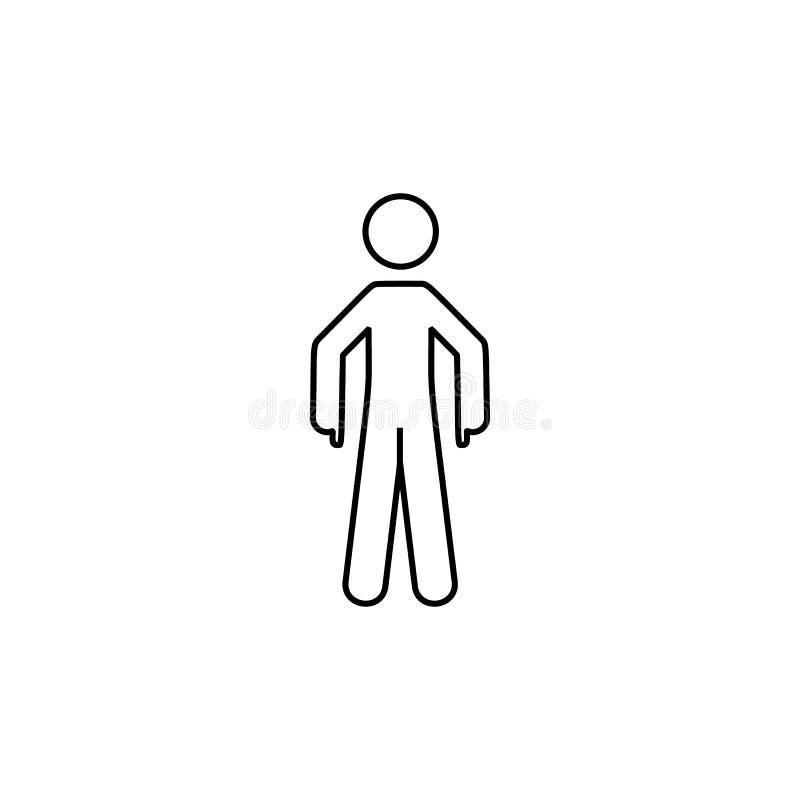 Ένδειξη man, εικονίδιο down Στοιχείο εικονιδίου λεπτής γραμμής με δείκτη δακτύλου απεικόνιση αποθεμάτων