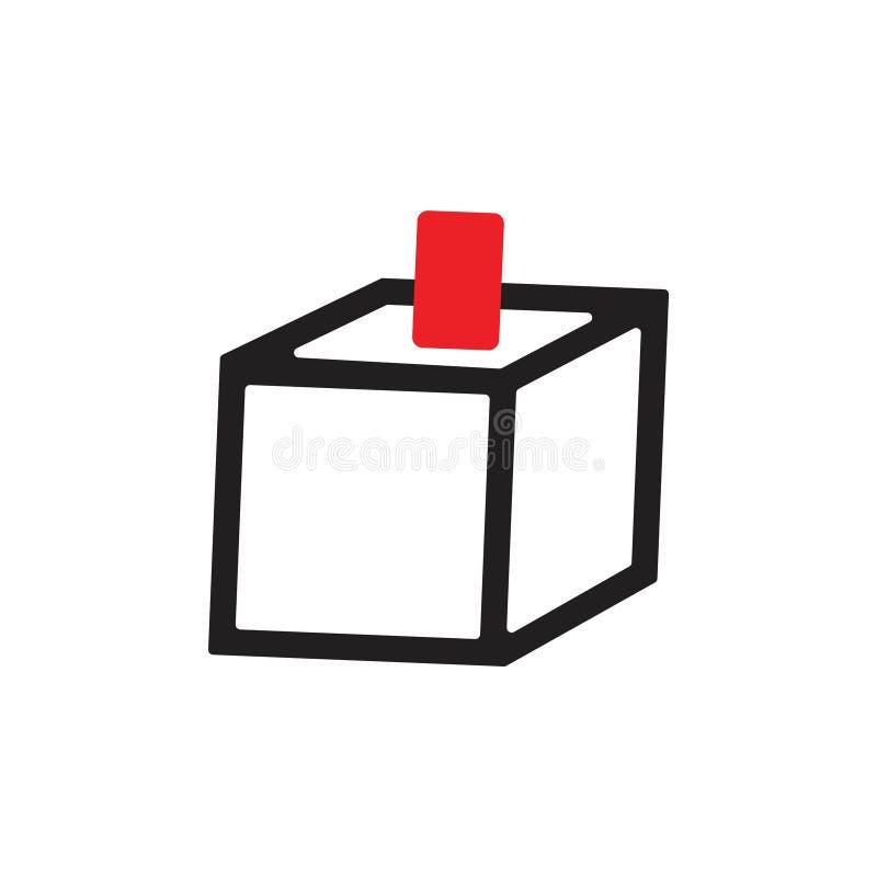 Ένθετο καρτών στο απλό διάνυσμα συμβόλων κιβωτίων ελεύθερη απεικόνιση δικαιώματος