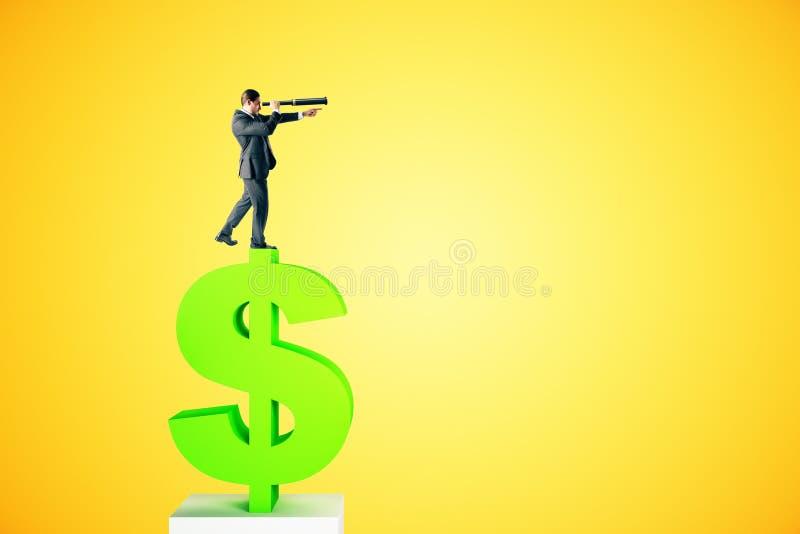 Έννοια έρευνας και εισοδήματος στοκ εικόνα
