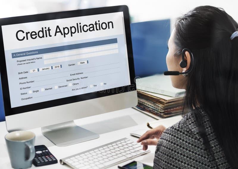 Έννοια αίτησης υποψηφιότητας πιστωτικών καρτών στοκ φωτογραφίες με δικαίωμα ελεύθερης χρήσης