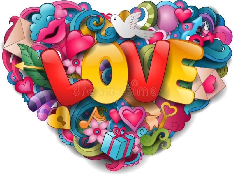 Έννοια αγάπης δαπέδων τζακιού απεικόνιση αποθεμάτων