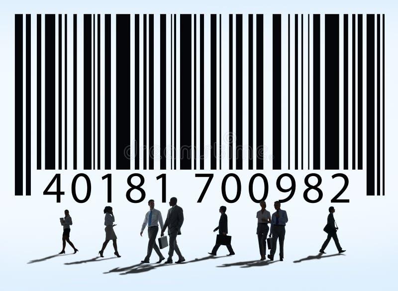 Έννοια αγαθών εμπορευμάτων τιμών κώδικα φραγμών ελεύθερη απεικόνιση δικαιώματος