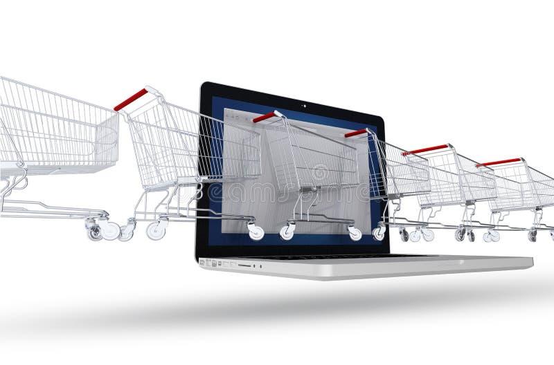 Έννοια αγοραστών Διαδικτύου διανυσματική απεικόνιση