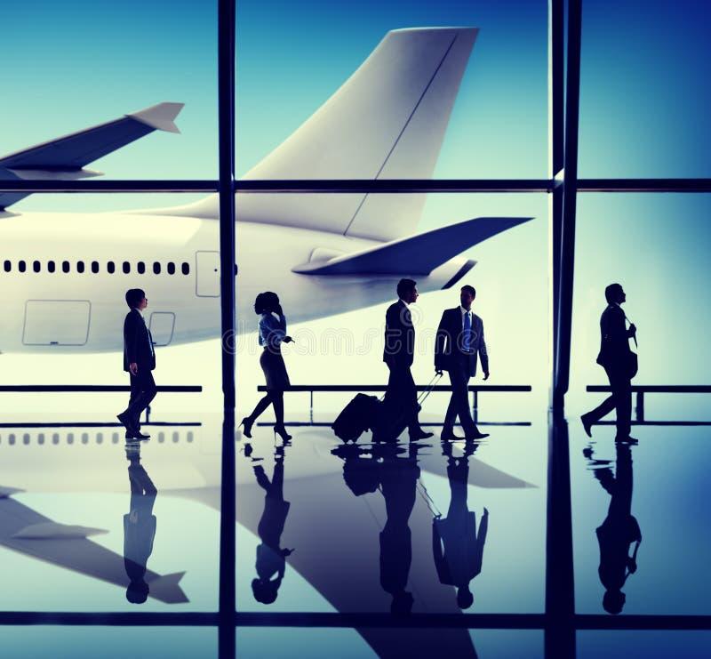 Έννοια αερολιμένων ταξιδιού επιχειρηματιών στοκ εικόνες