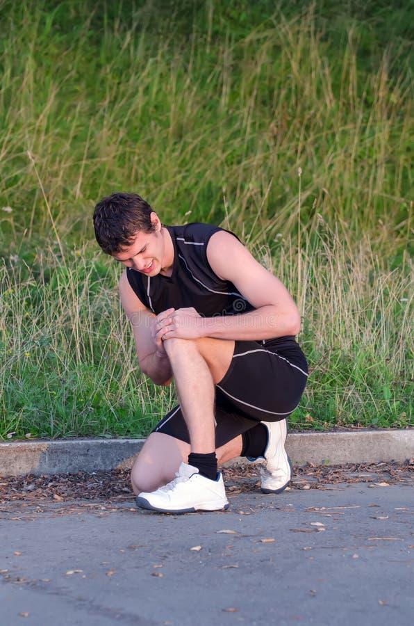 Έννοια αθλητικών τραυματισμών. Στοκ Εικόνες