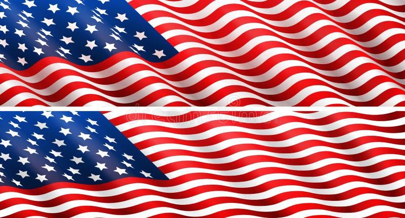 Έννοια αμερικανικών σημαιών απεικόνιση αποθεμάτων