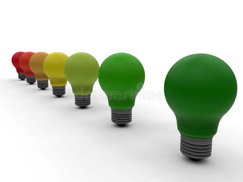 Έννοια λαμπών φωτός ενεργειακής αποδοτικότητας απεικόνιση αποθεμάτων