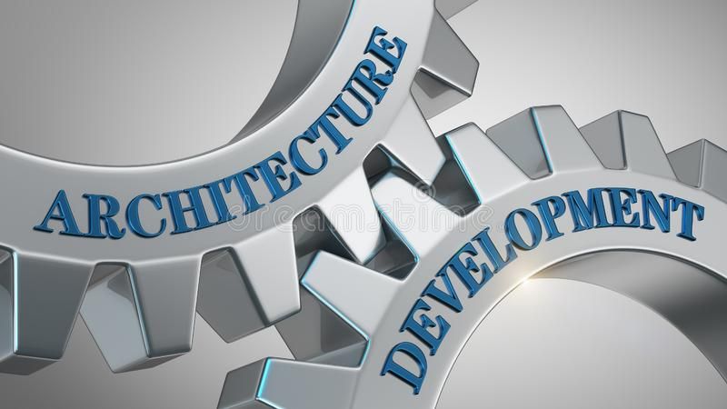 Έννοια ανάπτυξης αρχιτεκτονικής απεικόνιση αποθεμάτων