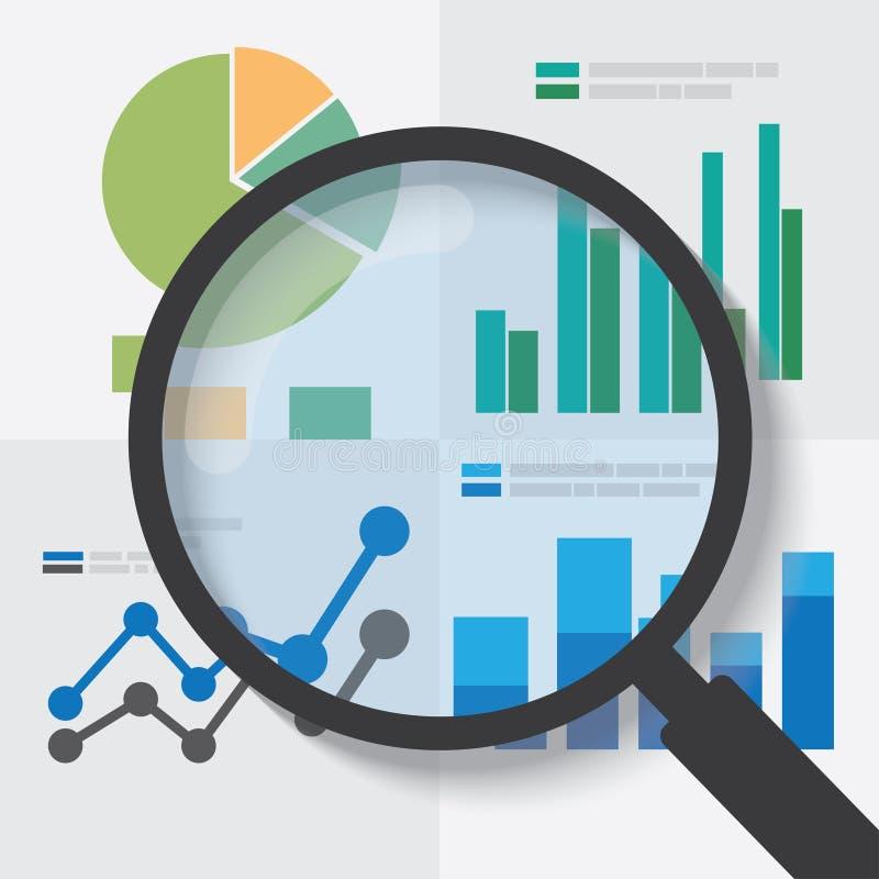 Έννοια ανάλυσης στοιχείων διανυσματική απεικόνιση