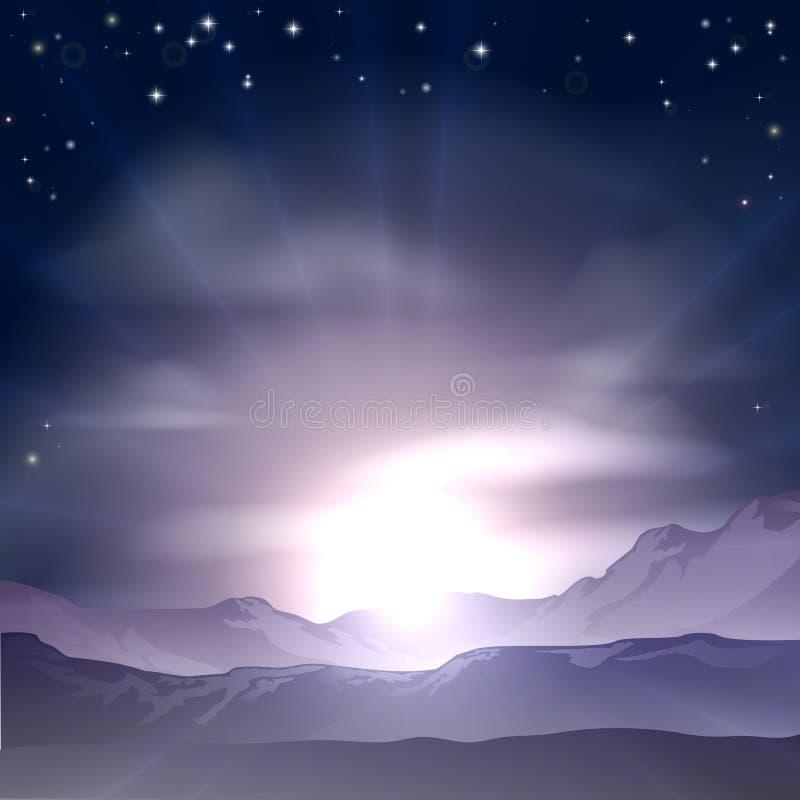 Έννοια ανατολής ή ηλιοβασιλέματος διανυσματική απεικόνιση