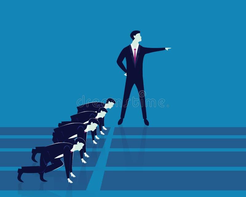 Έννοια ανταγωνισμού ηγεσίας και επιχειρήσεων ελεύθερη απεικόνιση δικαιώματος