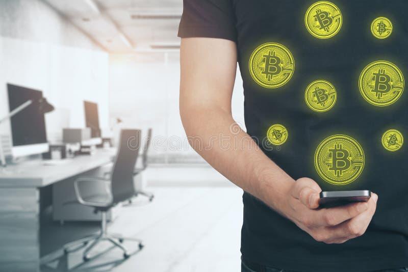 Έννοια ανταλλαγής ηλεκτρονικού εμπορίου και νομίσματος διανυσματική απεικόνιση