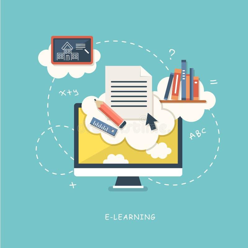 Έννοια απεικόνισης για τη σε απευθείας σύνδεση εκπαίδευση διανυσματική απεικόνιση