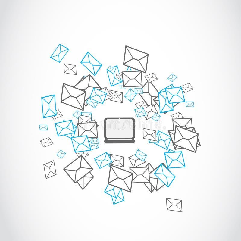 Έννοια αποστολής ηλεκτρονικού ταχυδρομείου ελεύθερη απεικόνιση δικαιώματος