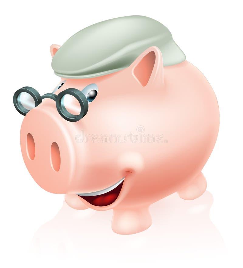 Έννοια αποταμίευσης συνταξιοδοτικών καλύψεων απεικόνιση αποθεμάτων
