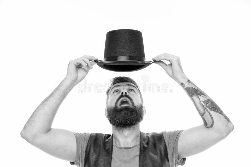 Έννοια απόδοσης τεχνάσματος θαυματοποιών Εργαζόμενος τσίρκων Μαγική απόδοση τεχνάσματος τσίρκων Αφήστε την απόδοση να αρχίσει Άτο στοκ εικόνα με δικαίωμα ελεύθερης χρήσης