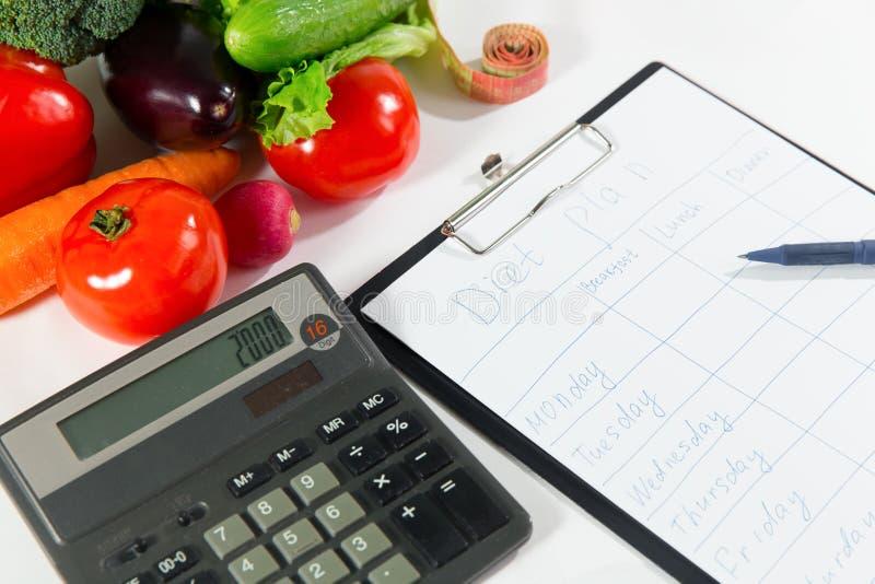 Έννοια απώλειας βάρους, υγιής οργανική τροφή στοκ φωτογραφία