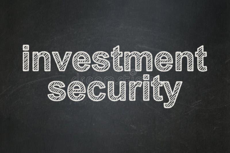 Έννοια ασφάλειας: Ασφάλεια επένδυσης στο υπόβαθρο πινάκων κιμωλίας στοκ φωτογραφίες με δικαίωμα ελεύθερης χρήσης