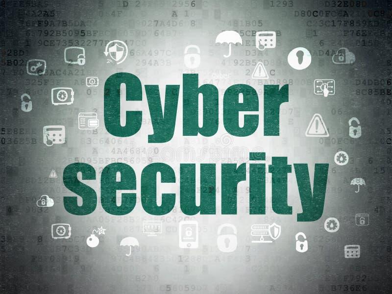 Έννοια ασφάλειας: Ασφάλεια Cyber στο υπόβαθρο εγγράφου ψηφιακών στοιχείων ελεύθερη απεικόνιση δικαιώματος