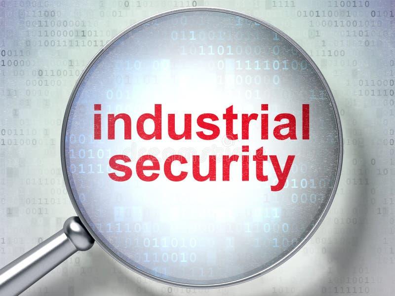 Έννοια ασφάλειας: Βιομηχανική ασφάλεια με το οπτικό γυαλί ελεύθερη απεικόνιση δικαιώματος