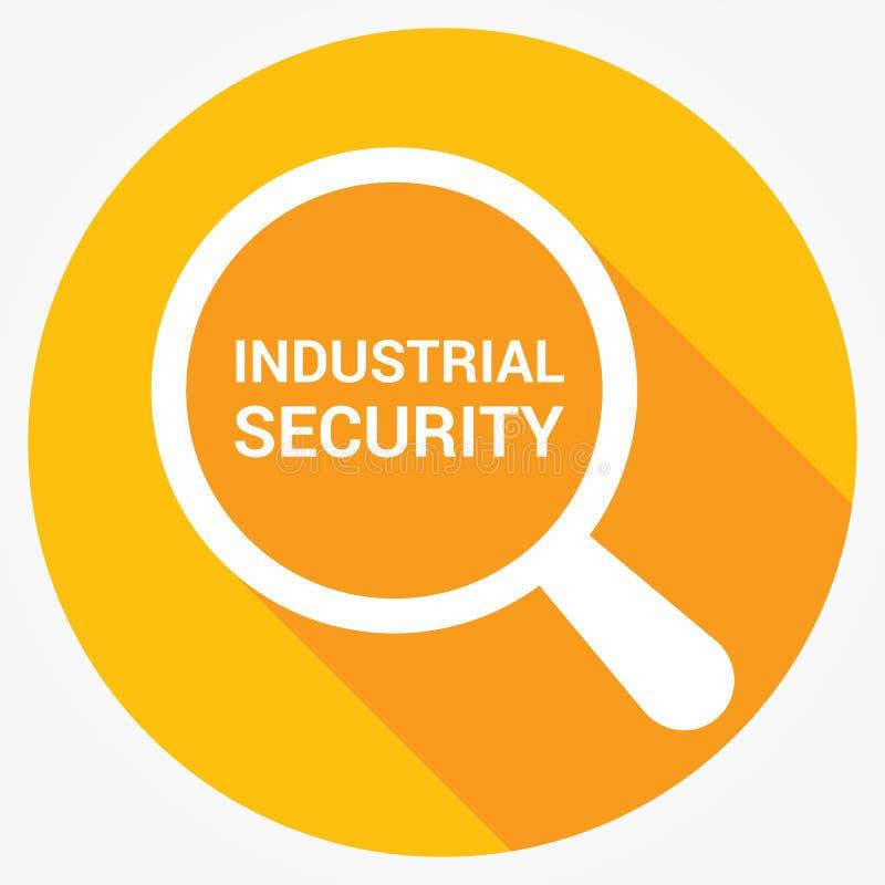 Έννοια ασφάλειας: Ενίσχυση του οπτικού γυαλιού με τη βιομηχανική ασφάλεια λέξεων ελεύθερη απεικόνιση δικαιώματος