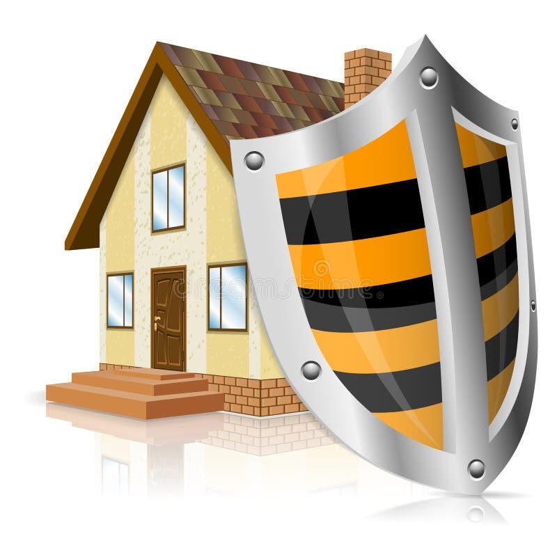 Έννοια ασφαλών κατοικιών ελεύθερη απεικόνιση δικαιώματος