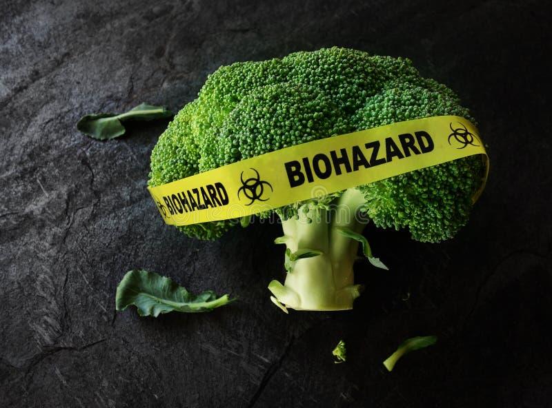 Έννοια ασφαλείας των τροφίμων ή μόλυνσης στοκ εικόνα με δικαίωμα ελεύθερης χρήσης