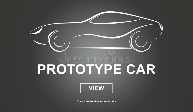 Έννοια αυτοκινήτων πρωτοτύπων διανυσματική απεικόνιση