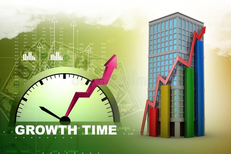 Έννοια αύξησης ακίνητων περιουσιών διανυσματική απεικόνιση