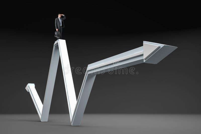 Έννοια αύξησης, ηγεσίας και επιτυχίας απεικόνιση αποθεμάτων