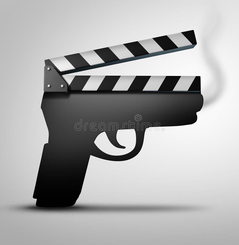 Έννοια βίας κινηματογράφων απεικόνιση αποθεμάτων